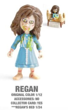 "Regan Horror 3.25"" Figures with Accessories and collector Cards!"