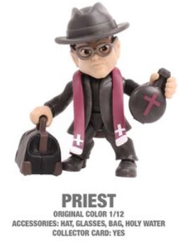 "Priest Horror 3.25"" Figures with Accessories and collector Cards!"
