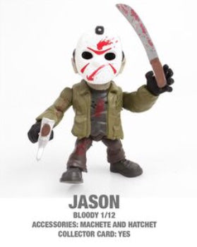 "Jason (Bloody) Horror 3.25"" Figures with Accessories and collector Cards!"