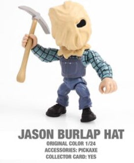 "Jason (Burlap) Horror 3.25"" Figures with Accessories and collector Cards!"