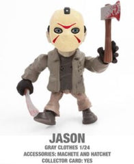 "Jason (Grey clothes) Horror 3.25"" Figures with Accessories and collector Cards!"