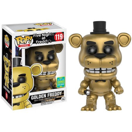 FUNKO FIVE NIGHTS AT FREDDY'S VINYL FIGURE GOLDEN FREDDY 2016 SUMMER CONVENTION EXCLUSIVE