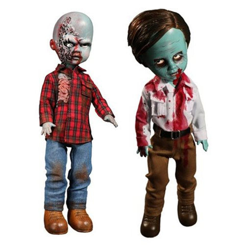 Living Dead Dolls Dawn of the Dead Flyboy and Plaid Shirt Zombie Set
