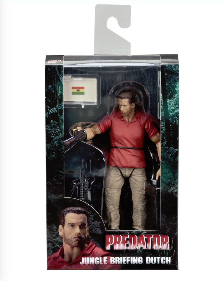"SDCC 2017 EXCLUSIVE PREDATOR 30TH ANNIVERSARY - 7"" SCALE ACTION FIGURE - JUNGLE BRIEFING DUTCH"