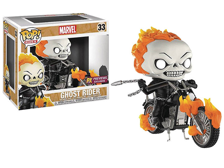 Pop! Rides: Marvel - Ghost Rider With Bike PX Previews Exclusive