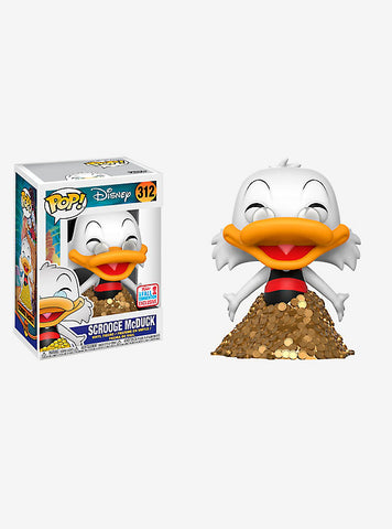 FUNKO DISNEY DUCKTALES POP! SCROOGE MCDUCK VINYL FIGURE 2017 FALL CONVENTION EXCLUSIVE