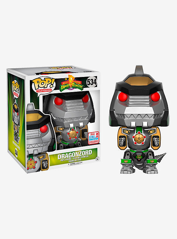 FUNKO MIGHTY MORPHIN POWER RANGERS POP! TELEVISION DRAGONZORD 6 INCH VINYL FIGURE 2017 FALL CONVENTION EXCLUSIVE