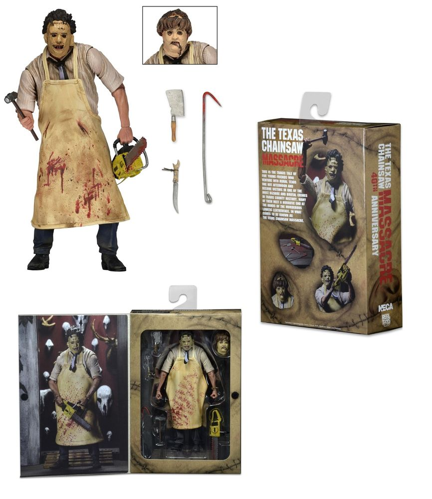 "TEXAS CHAINSAW MASSACRE - 7"" ACTION FIGURE - ULTIMATE LEATHERFACE Restock"