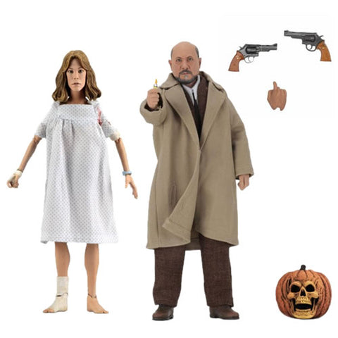 "Retro Clothed Action Figures - Halloween 2 (1981) - 8"" Doctor Loomis & Laurie Strode 2-Pack"