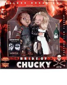 BRIDE OF CHUCKY Deluxe Boxed Figure Set McFarlane Tiffany Movie Maniacs 2