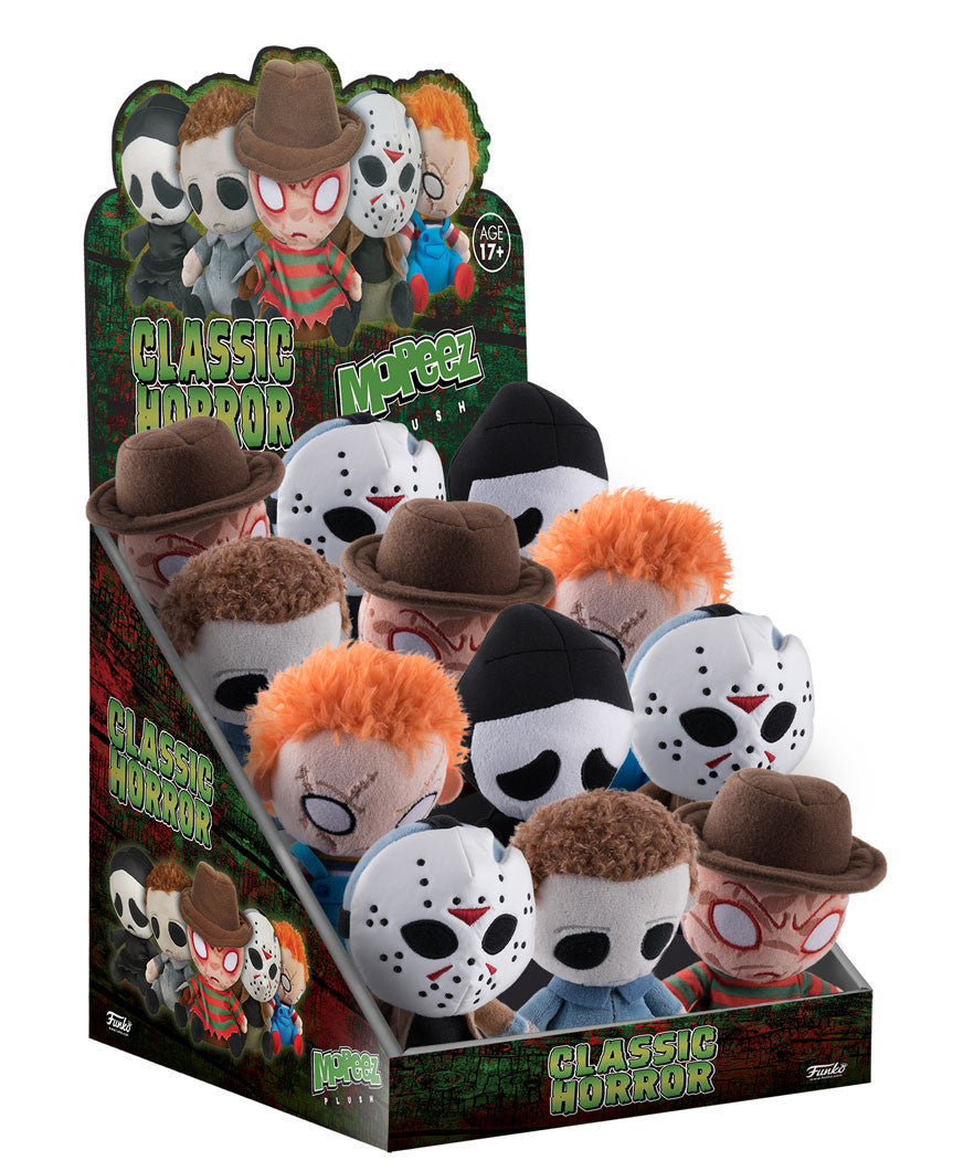 Horror Mopeez Plush Assortment Jason Freddy Myers Chucky Ghostface