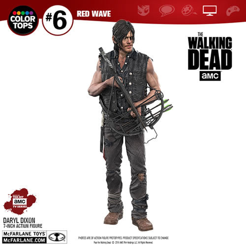 "McFarlane Color Top Series Red Wave Figures - The Walking Dead (TV Version) - 7"" Daryl Dixon"