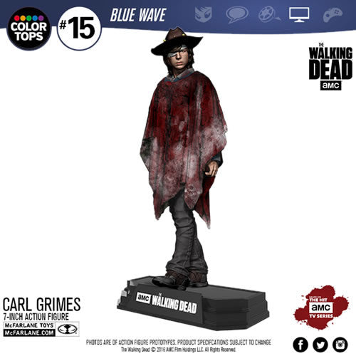 "McFarlane Color Top Series Blue Wave Figures - The Walking Dead (TV Version) - 7"" Carl Grimes"
