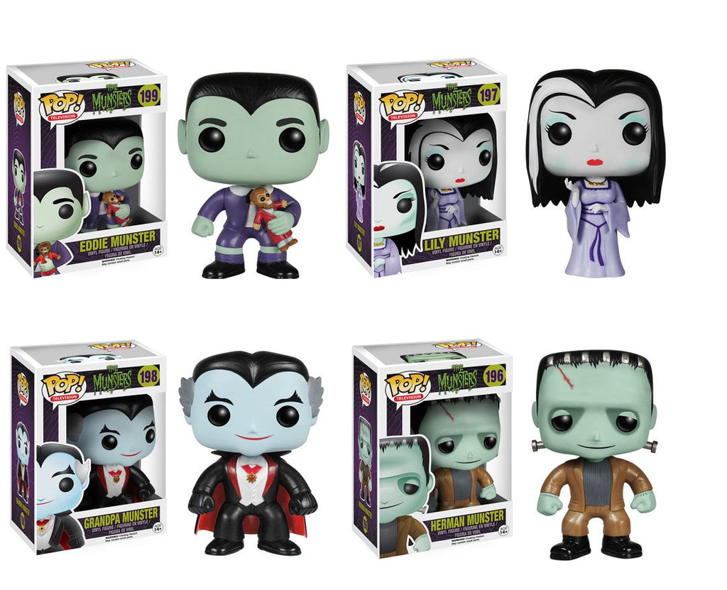 Pop! Television The Munsters: Set of four Herman Lily Eddie Grandpa
