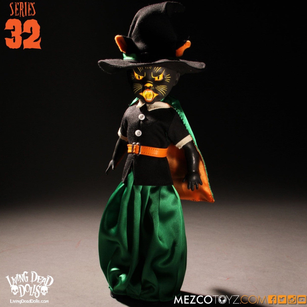 Living Dead Doll Series 32 Black cat witch