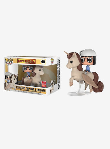 Funko Pop! Rides Bob's Burgers Espresso Trip Tina & Unicorn Vinyl Figure - 2018 Summer Convention Exclusive