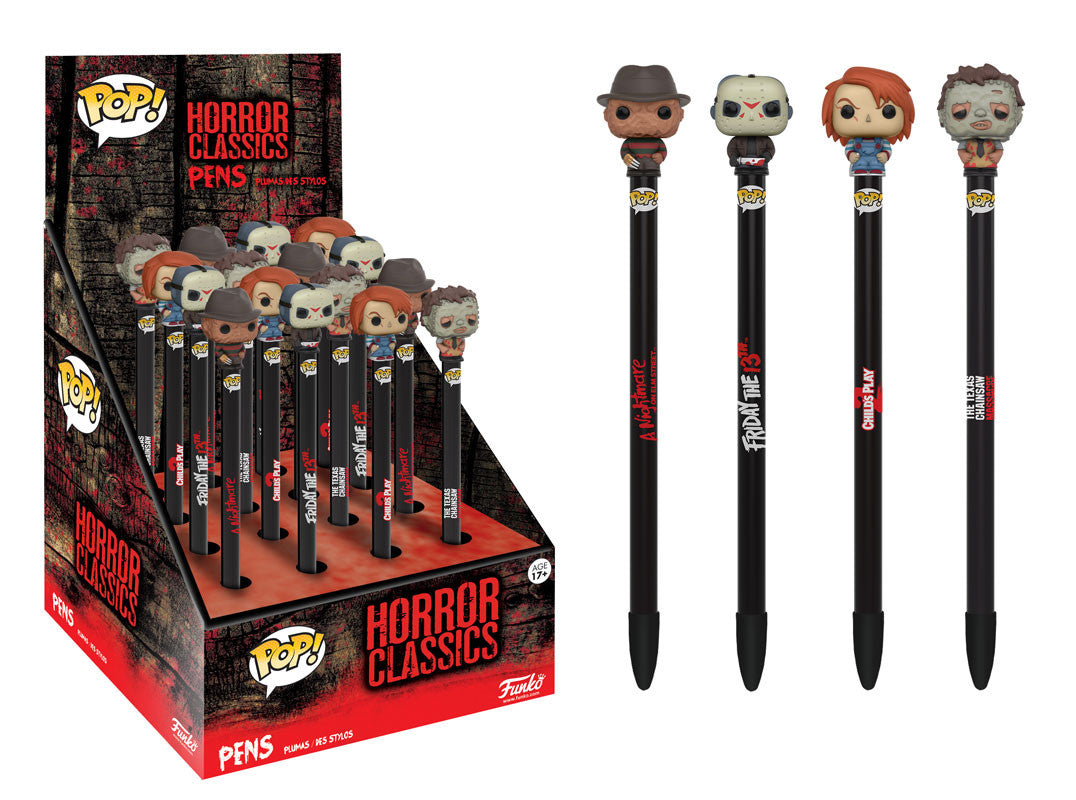 Horror Pen Toppers Freddy Jason Chucky Leatherface