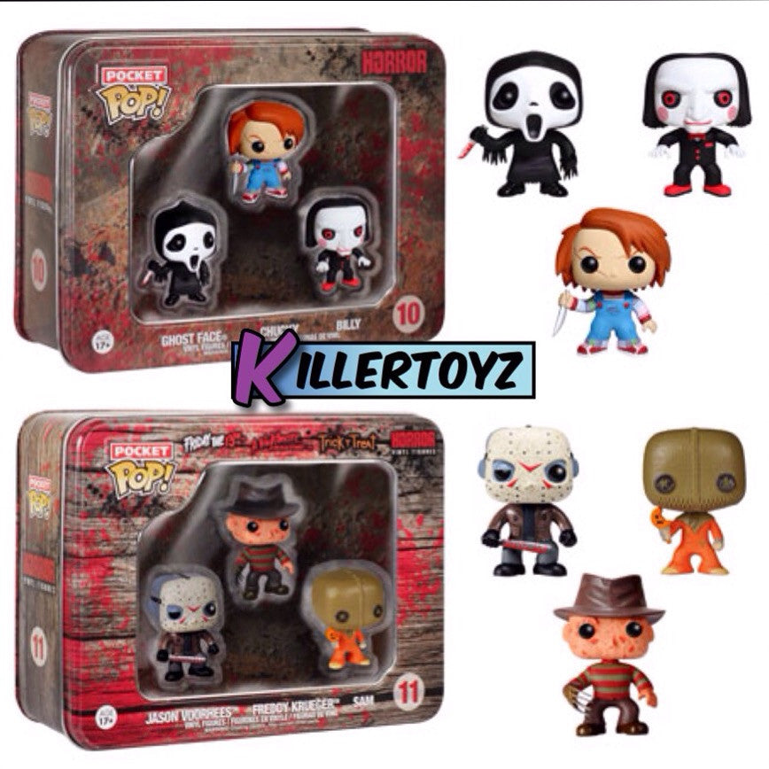 Pocket Pop! Horror Freddy Jason Sam Ghostface Billy Chucky set of 6