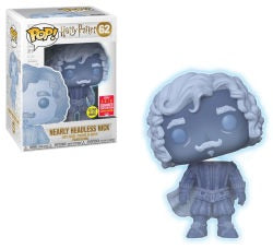 FUNKO HARRY POTTER POP! Nearly Headless Nick GLOW-IN-THE-DARK VINYL FIGURE 2018 SUMMER CONVENTION EXCLUSIVE