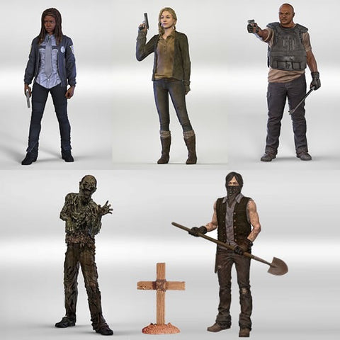 The Walking Dead TV Series 09- Set of 5