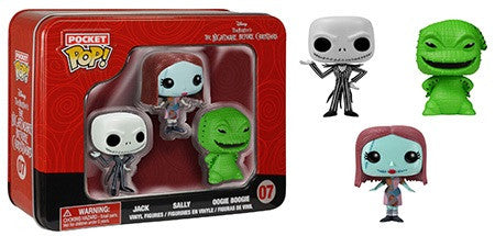 Pocket Pop! The Nightmare before Christmas Jack Sally Oogie 3-pack