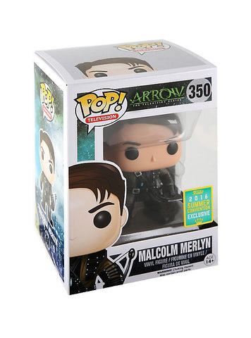 FUNKO DC COMICS ARROW POP! TELEVISION MALCOLM MERLYN VINYL FIGURE 2016 SUMMER CONVENTION EXCLUSIVE