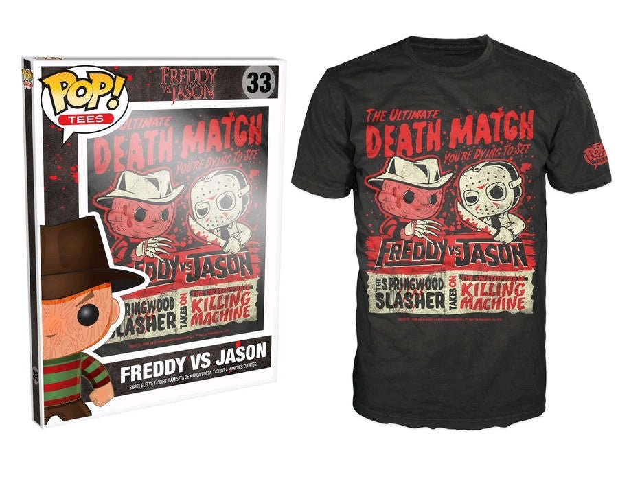 Pop! Tees: Horror Freddy Vs Jason