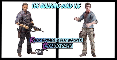 The Walking Dead Series 7.5 (TV Version) - Flu Walker/Rick Grimes combo pack
