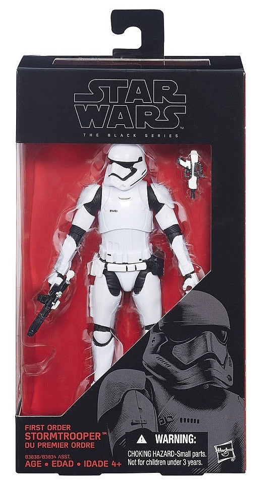"2015 Star Wars The Force Awakens 6"" Black Series - First Order Stormtrooper"