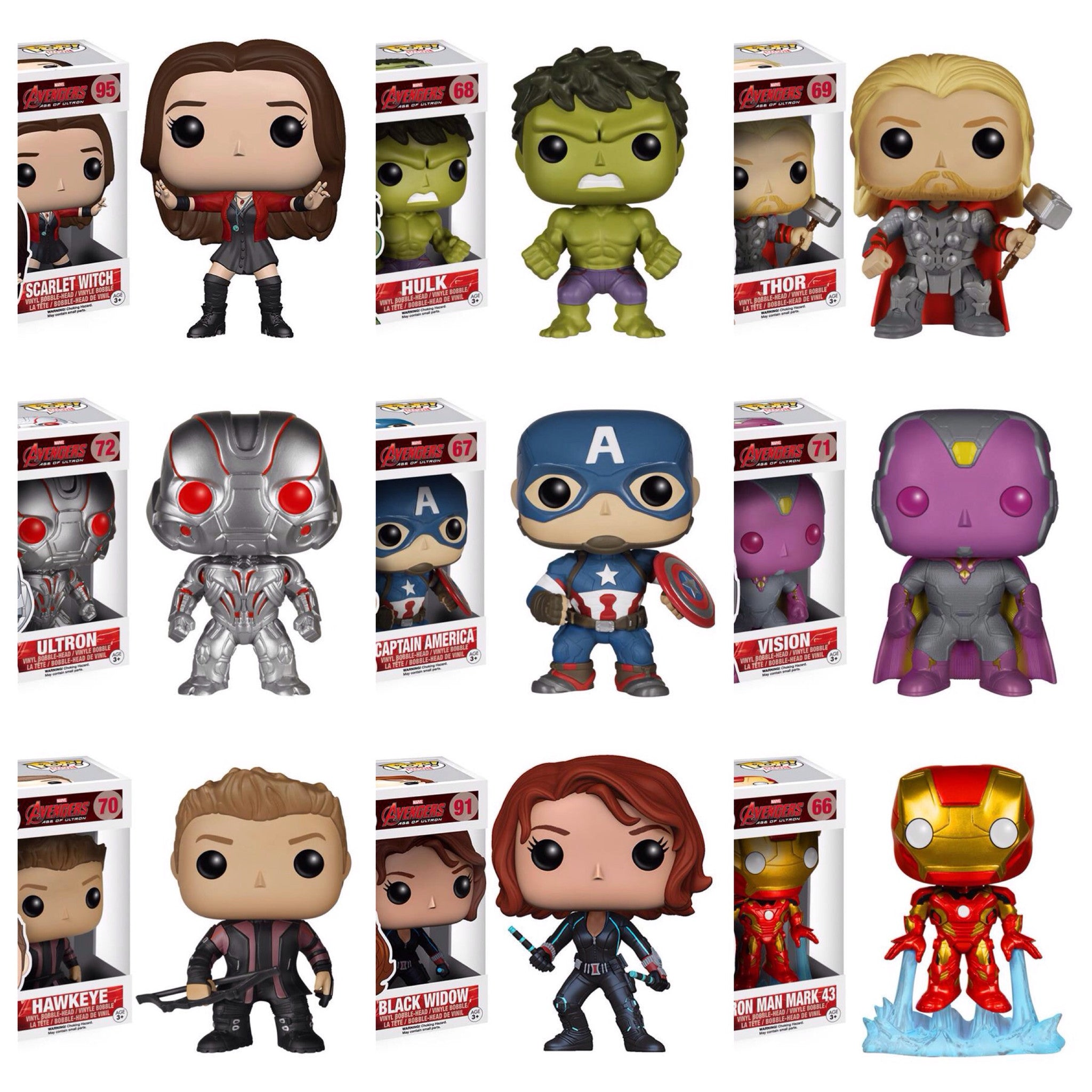 Pop! Avengers Age Of Ultron: Set of 9
