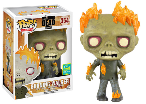 FUNKO TV POP! WALKING DEAD BURNING WALKER VINYL FIGURE 2016 SUMMER CONVENTION EXCLUSIVE