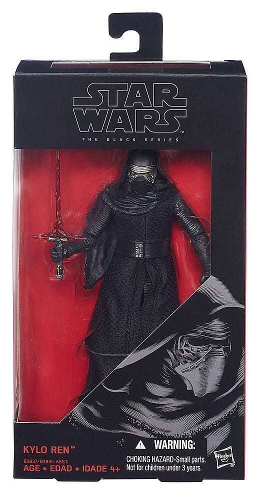 "2015 Star Wars The Force Awakens 6"" Black Series Kylo Ren"