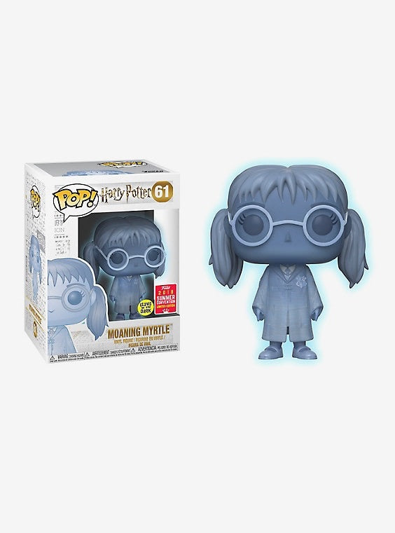 FUNKO HARRY POTTER POP! MOANING MYRTLE GLOW-IN-THE-DARK VINYL FIGURE 2018 SUMMER CONVENTION EXCLUSIVE