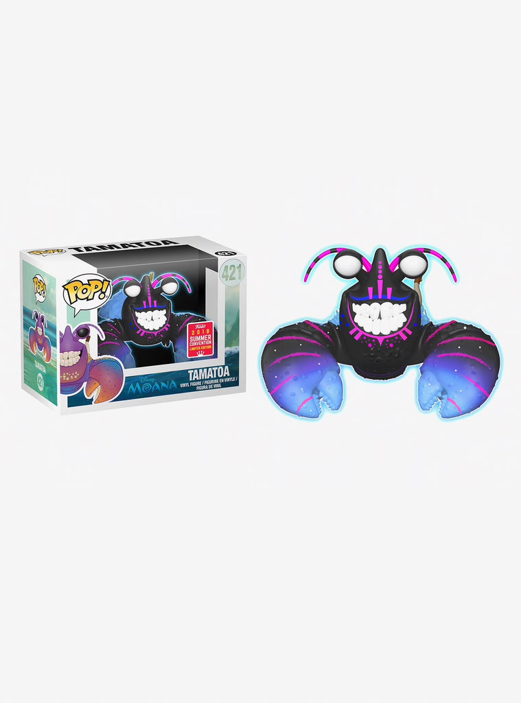 Funko Pop! Disney Moana Tamatoa (Neon) Vinyl Figure - 2018 Summer Convention Exclusive