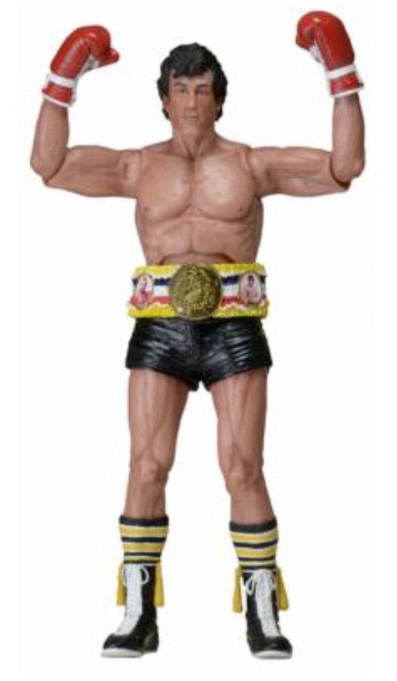 NECA Rocky III Rocky Balboa Action Figure [Promo Art Black Trunks]