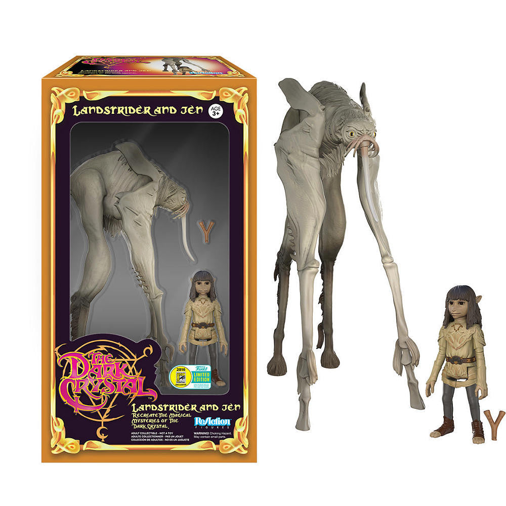 Funko Reaction The Dark Crystal 3.75 inch Vinyl Figure - Landstrider and Jen