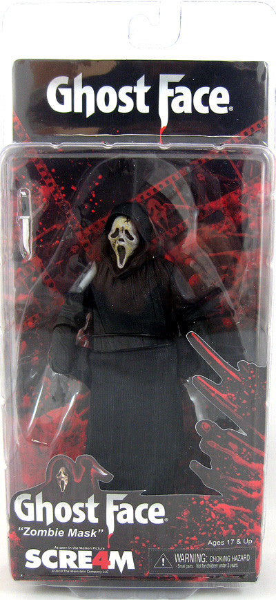 Scream 4 Movie: 6 Inch Action Figure - Zombie Ghostface