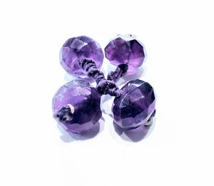 Rope cufflinks with amethysts