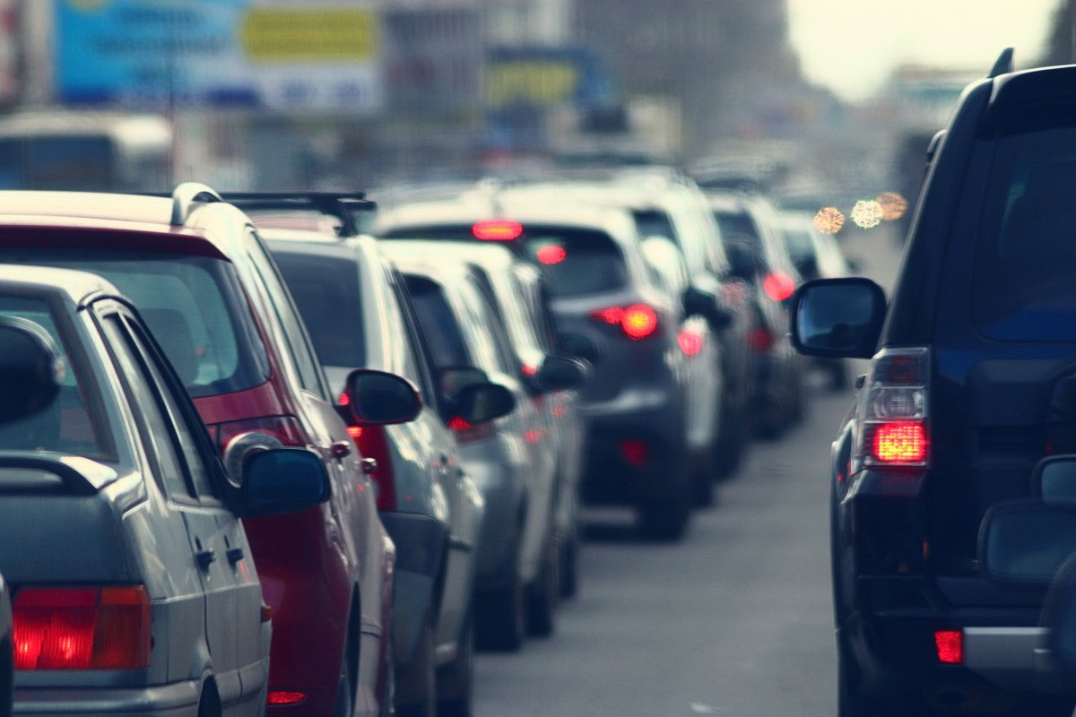 traffic jams in the city, road, rush hour, driving health