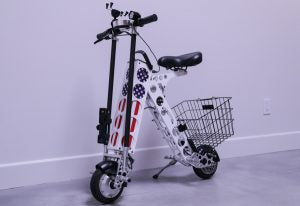 URB-E electric foldable scooter Memorial Day American Flag Inserts