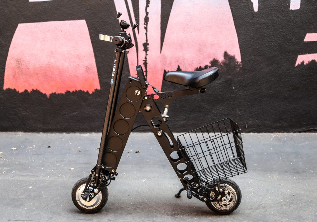 City Edition URB-E Folding Electric Scooter with Seat