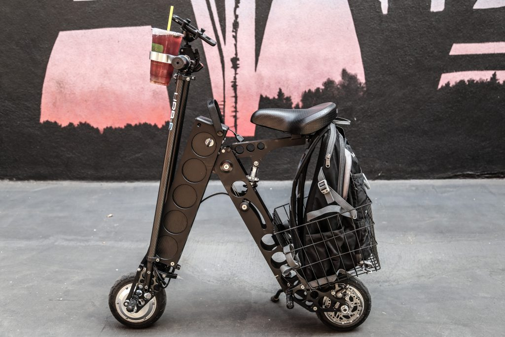 URB-E folding electric scooter with seat City Edition