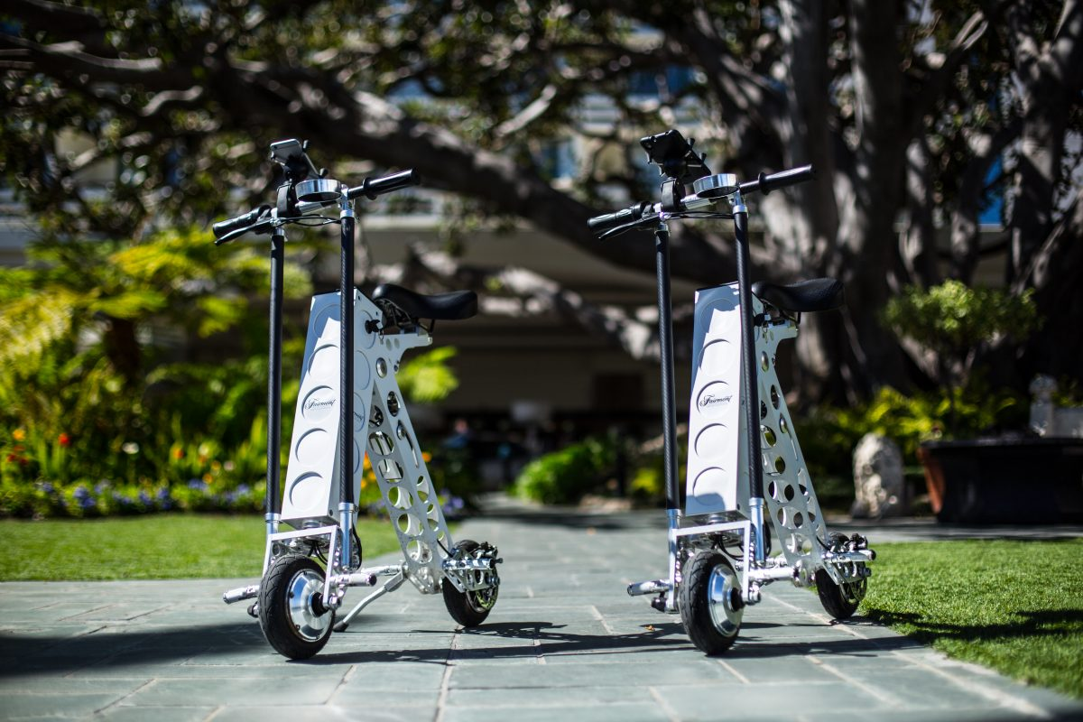 fairmont hotel santa monica urb-e foldable electric scooter