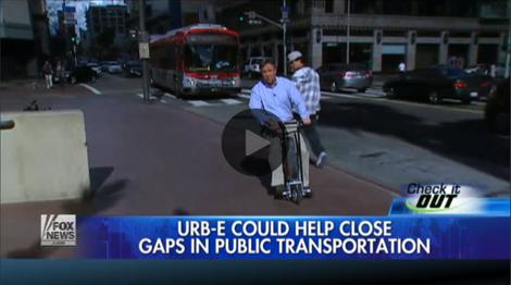 URB-E electric scooter review on Fox News