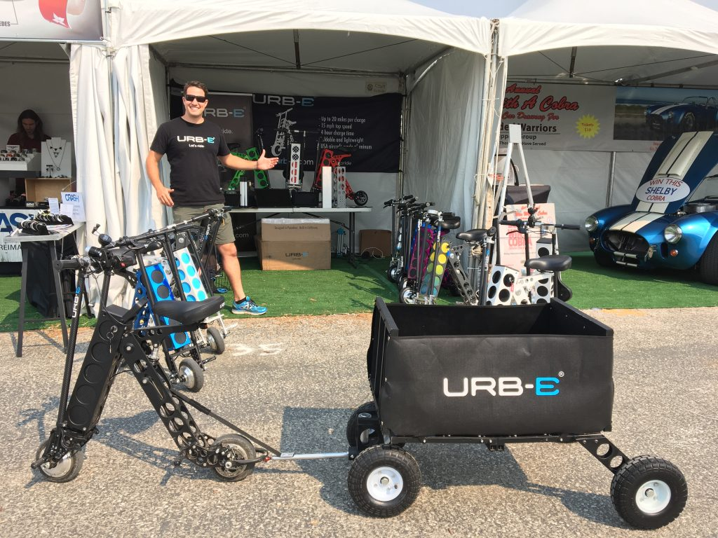 URB-E Booth at the 2016 Monterey Car Week