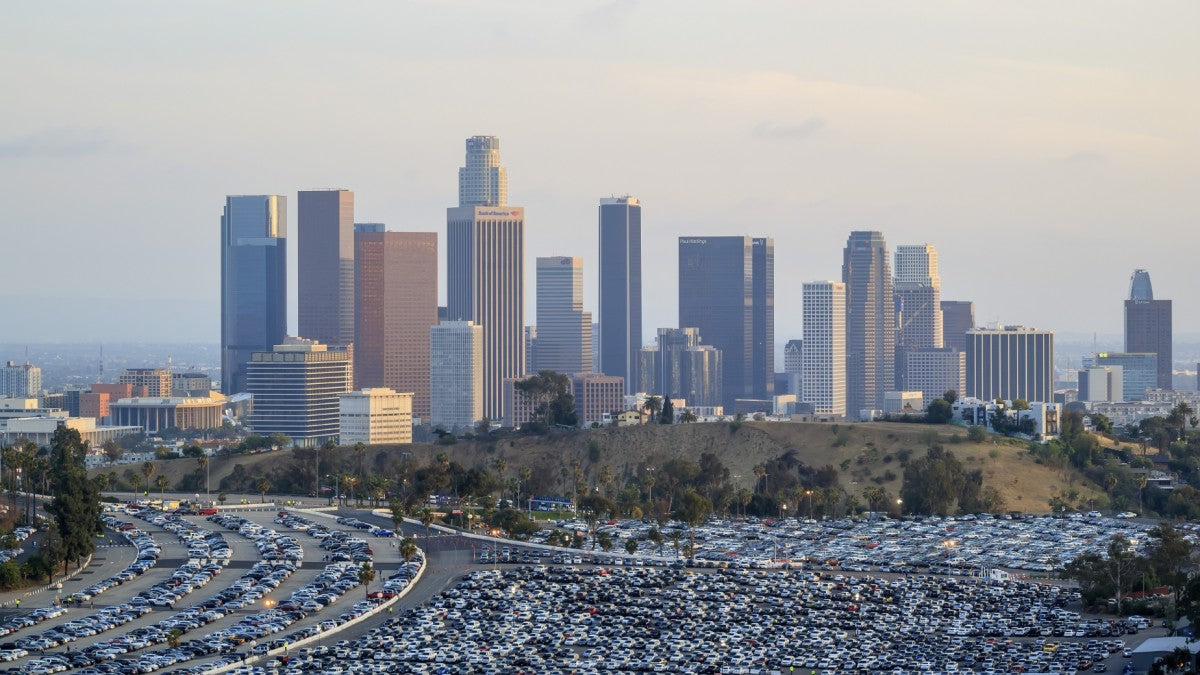 Los Angeles, ranked #10 in the 10 worst cities for driving a car