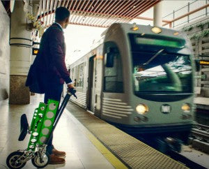 metro pasadena, ca train commute urb-e foldable electric bike