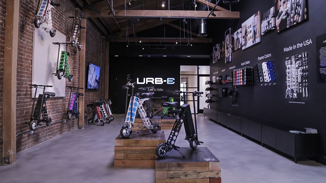 URB-E Retail Showroom pasadena 91106
