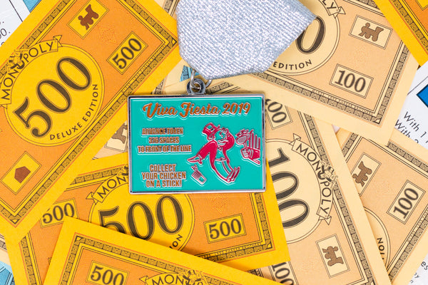 Advance To Front of Chicken on a Stick Line Fiesta Medal 2019 by James  Hudson