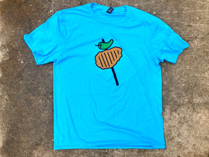 Chicken on a Stick Shirt Unisex Blue